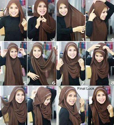 Cara-Memakai-Jilbab-Modern-Pashmina