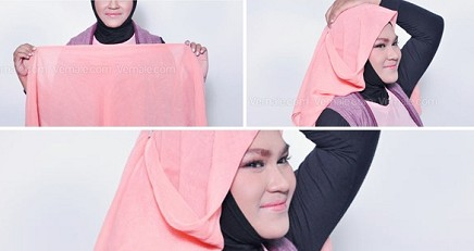 tutorial-hijab-muka-bulat