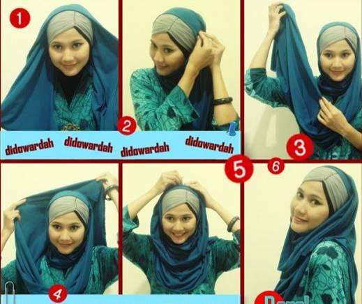 tutorial-hijab-paris-segi-empat-modern