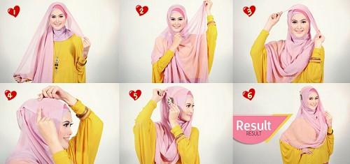 Tutorial Hijab Segi Empat Pesta yang Anggun dan Unik | Otomotif ...