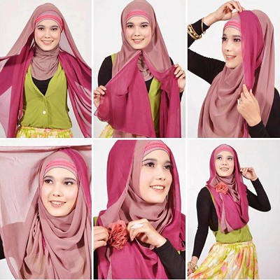 Tutorial-Hijab-Segi-Empat-Simple