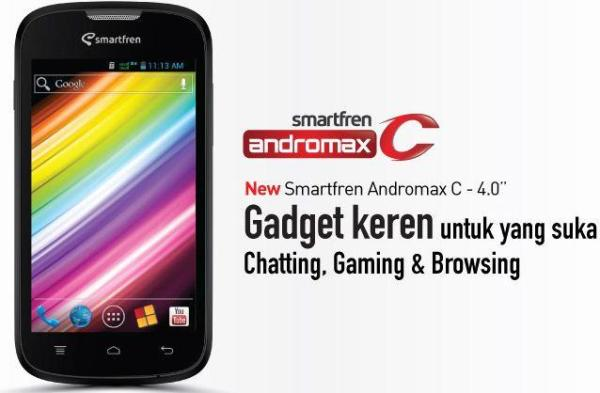 Cara flash hp Smartfren Andromax C