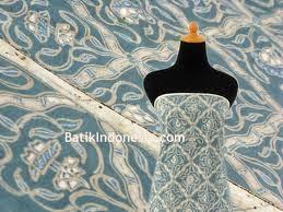 Batik Tulis Solo Pewarna Alam Motif Sido Luhur Biru