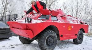 Di Rusia, kendaraan lapis baja dipakai jadi taksi