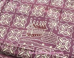 Kain Batik Cap Padang Motif Rumah Adat