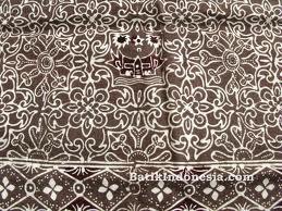 Kain Batik Cap Padang Motif Rumah Gadang Coklat
