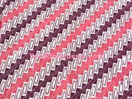 Kain Batik Cap Tasik Motif Kail Nelayan Ungu Pink Prima