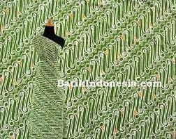 Kain Batik Cap Tasik Motif Lereng Bulat Hejo Prima