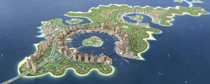 Kemewahan pulau buatan di Qatar1
