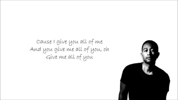 John Legend All of Me with Lyrics
