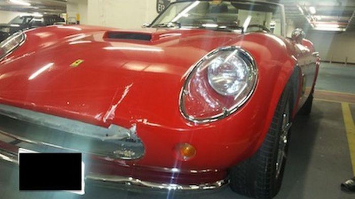 Ferrari 1962 penyok akibat ulah valet parking di Dubai (7daysindubai-okezobe)